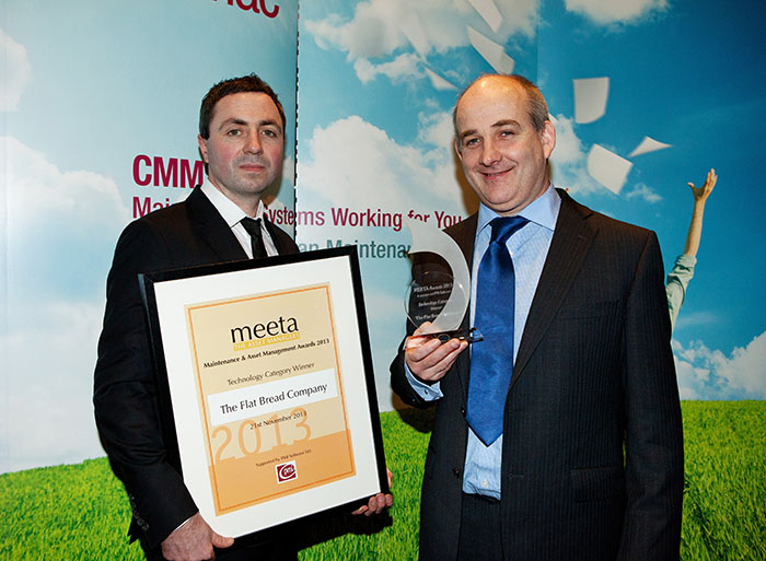 MEETA 2013: Gerard Naughton (Maintenance) and Kieran Walsh (Managing Director) of the Flat Bread Company