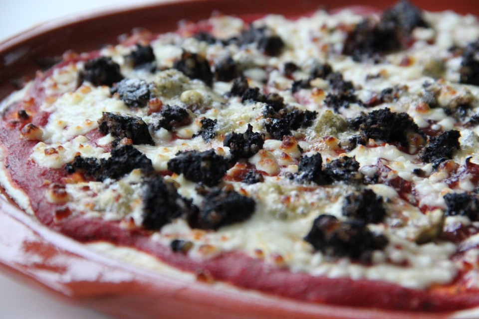 Black Pudding and Blue Cheese Pizza.